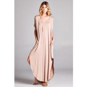 Oversize Maxi Dress in Mauve